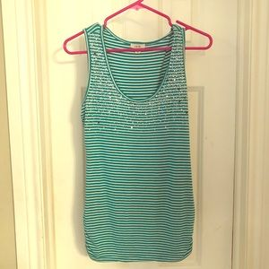 Cache Teal Tank Top